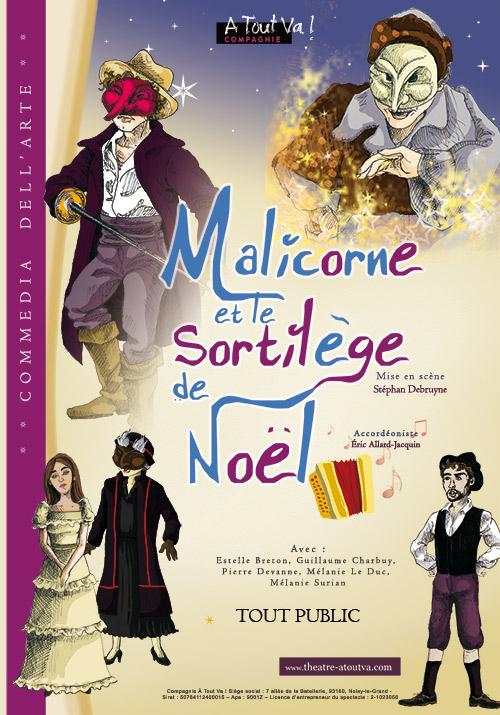 Affiche du spectacle Malicorne et le Sortilège de Noël