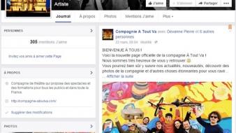 Nouvelle page facebook de la compagnie A Tout Va !